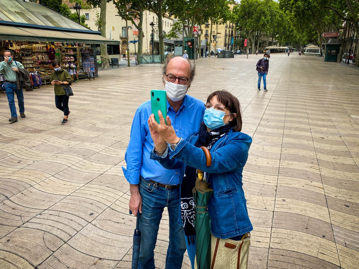 De Ramblas in Barcelona.
