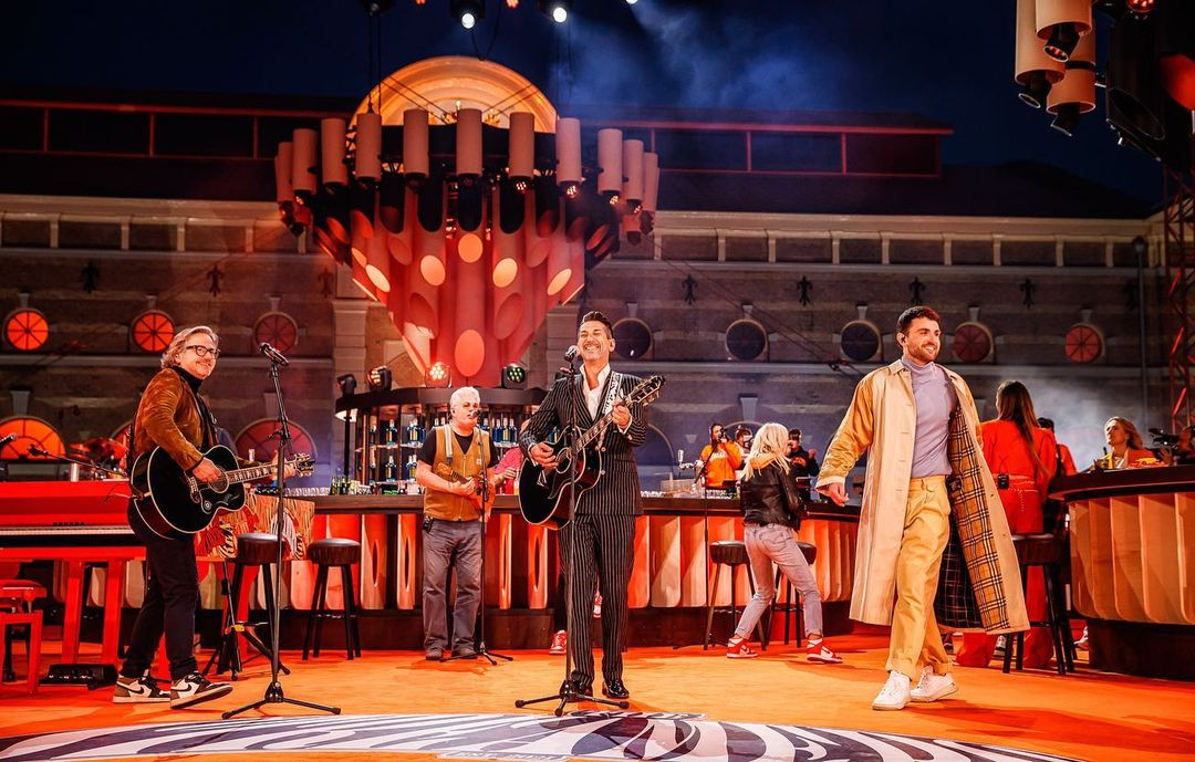 27 april legendarisch optreden vanaf Paleis Noordeinde in Den Haag The Streamers via The Live Streamers