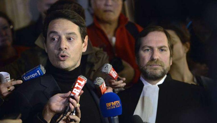 Advocaten van Kerviel, David Koubbi (links) en Patrice Spinosi. Beeld AFP