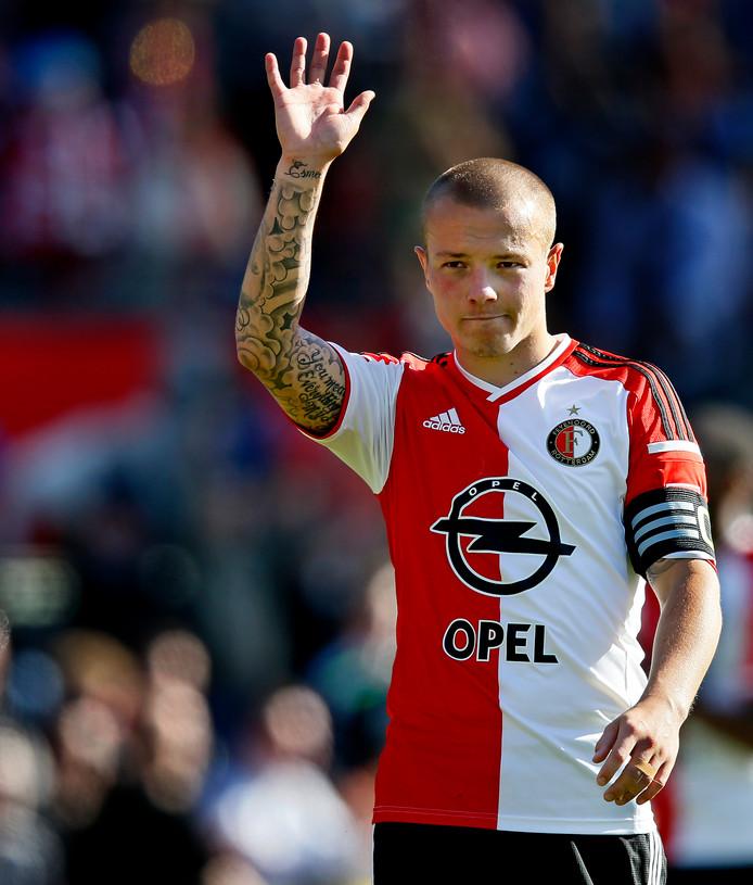 Jordy Clasie als speler van Feyenoord.