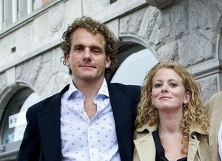 Campagnedirecteur Joris Thijssen (l) en Greenpeace-acttiviste Nora Christensen Beeld ANP