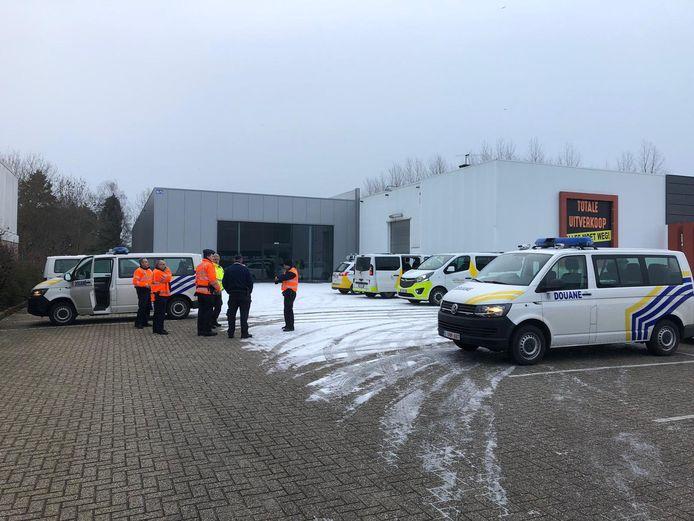 grootschalige controle 'gewapende inspectie' in Haacht