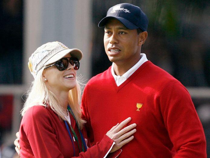 Tiger Woods en Elin Nordegren tijdens de Presidents Cup van 2009.