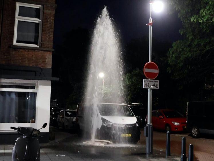 Waterballet in Den Haag: brandkranen opengedraaid op meerdere plekken