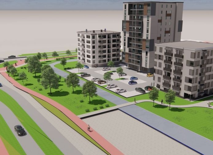 Zo kan de nieuwbouw op de plek van het politiebureau en de brandweerkazerne in Papendrecht er straks uitzien.
