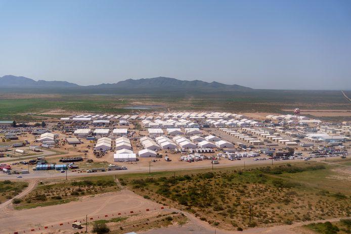 Een vluchtelingenkamp voor Afghanen in de Amerikaanse deelstaat New Mexico. (10/09/2021)