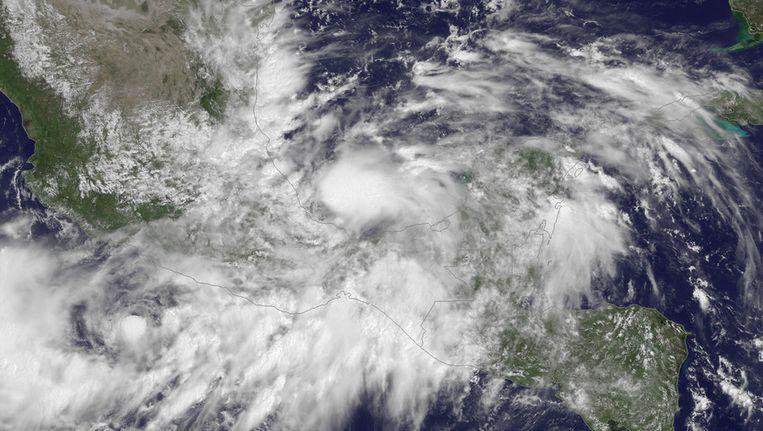 Een satellietbeeld van de tropische storm Ingrid, intussen uitgegroeid tot een orkaan. Beeld afp