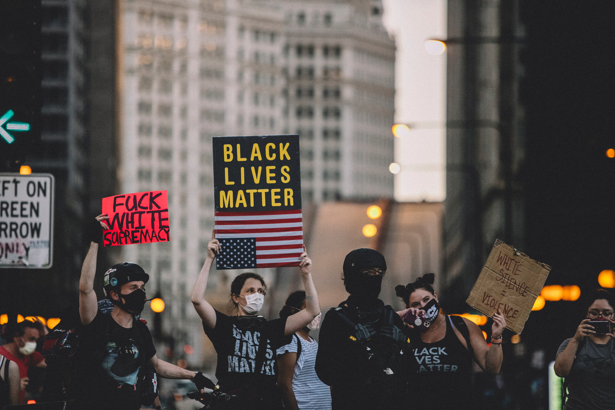 Black Lives Matter-protesten in Chicago Beeld NurPhoto via Getty Images