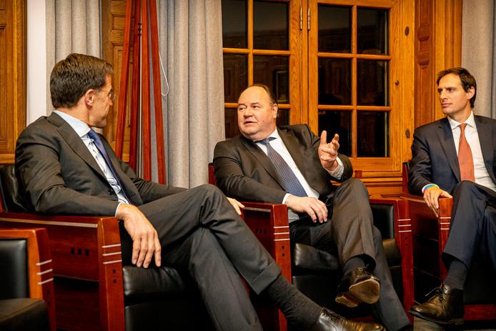 Henk Otten op bezoek bij premier Rutte in het Torentje