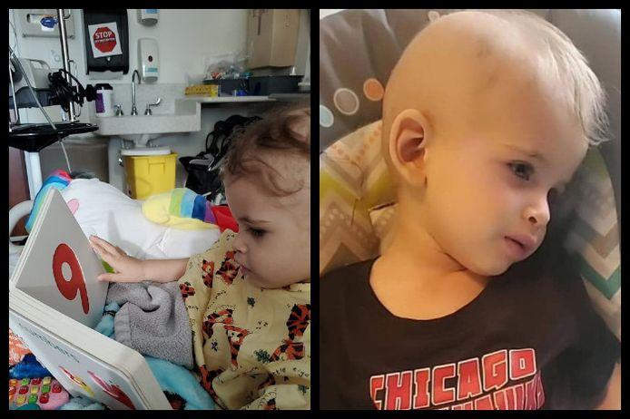 Brooklyn, het tweejarige zoontje van Ash Delaere uit Hooglede, vecht in het verre Chicago tegen een tumor