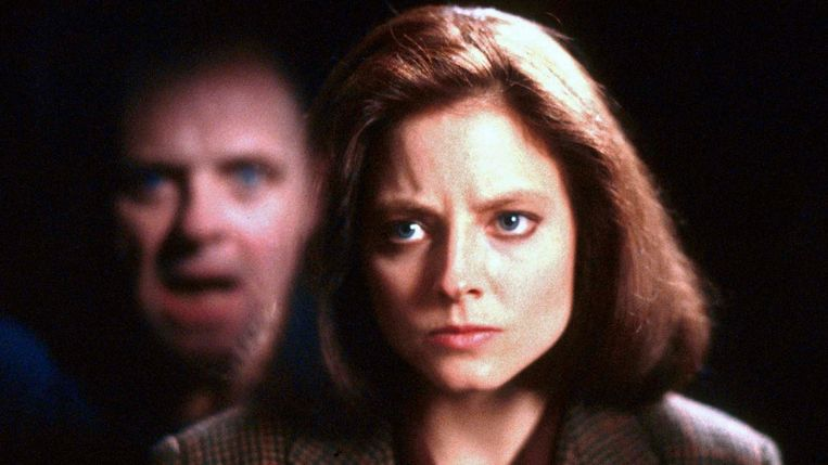 Met Anthony Hopkins in 'The Silence of the Lambs' (1991). Beeld Peter De Backer