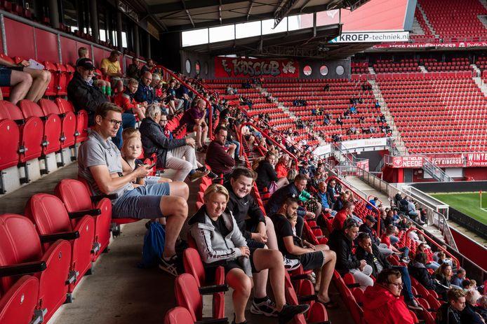 Een openbare training in de Veste deze zomer. Op zondag 25 april kunnen fans eindelijk weer naar de Veste.