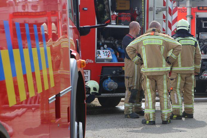 De Aarschotse brandweer kwam ter plaatse om het vuur te blussen.