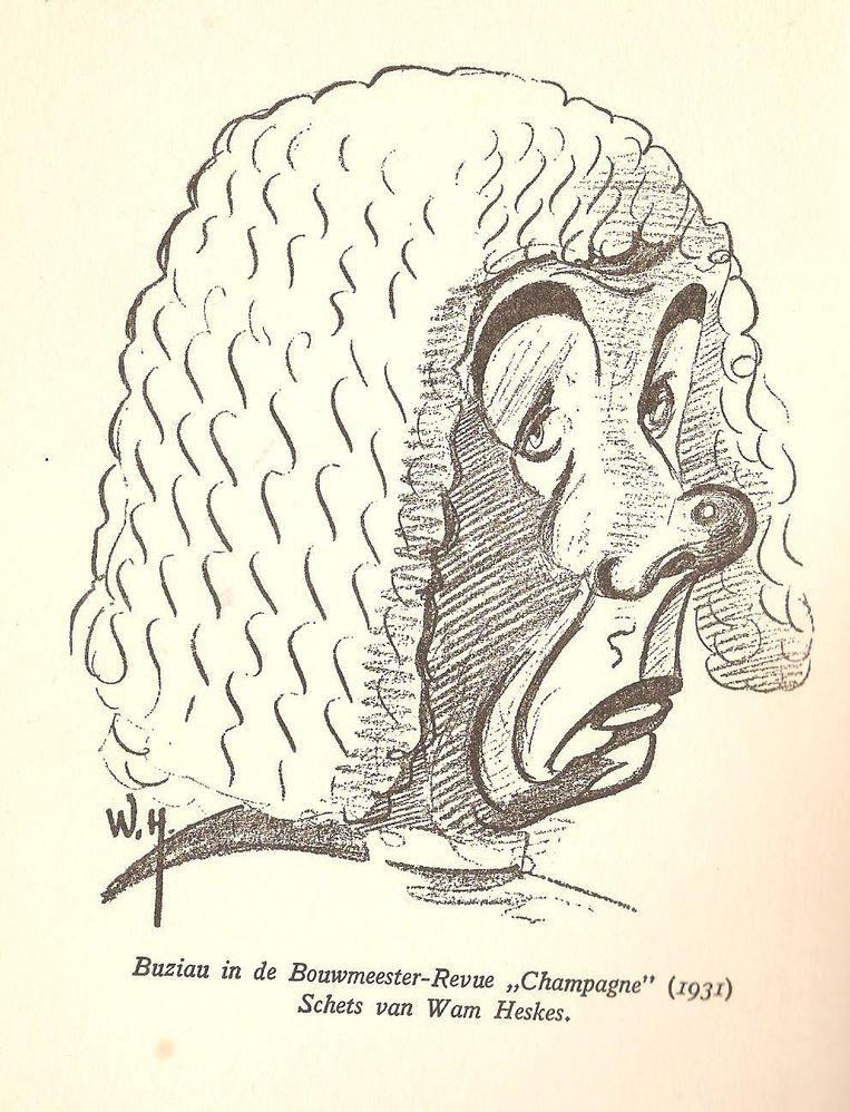 Schets van Johan Buziau door Wam Heskes (1931). Beeld