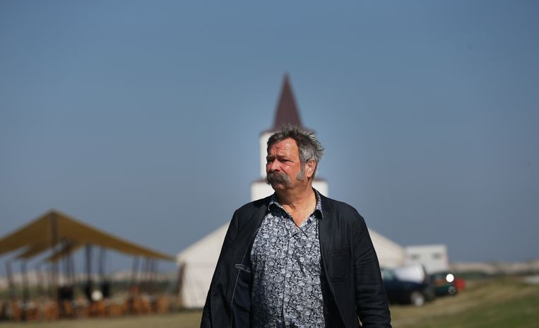 Joop Mulder in 2011 bij Oerol. Beeld ANP Kippa