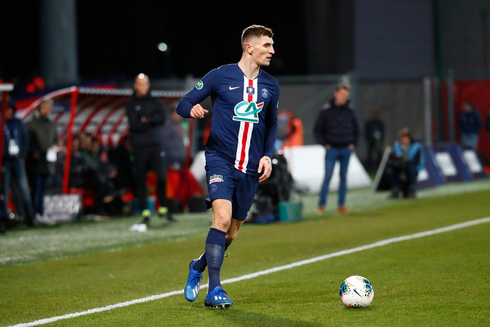 Thomas Meunier ( PSG ) FOOTBALL : Coupe de France - Dijon vs PSG - Ligue 1 - 12/02/2020 © PanoramiC ! only BELGIUM !