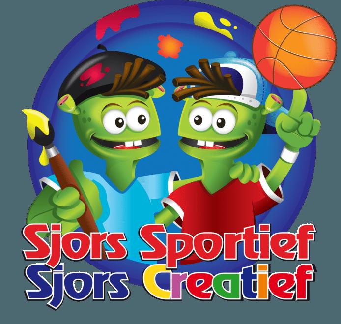 Het logo van Sjors Creatief en Sjors Sportief.