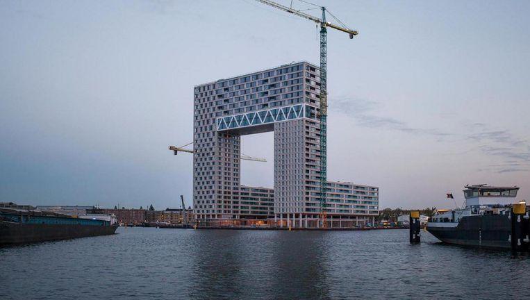 De Pontsteiger in de Houthaven, inmiddels bekend als 'het miljoenengebouw' Beeld Maarten Boswijk