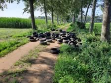 Tientallen banden gedumpt in Aalten: 'dit is een grof schandaal'
