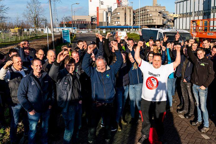 Boerenprotest bij de Amercentrale, Geertruidenberg
