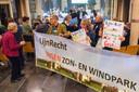 Een eerder protest tegen zonneparken en windturbines in Meierijstad.