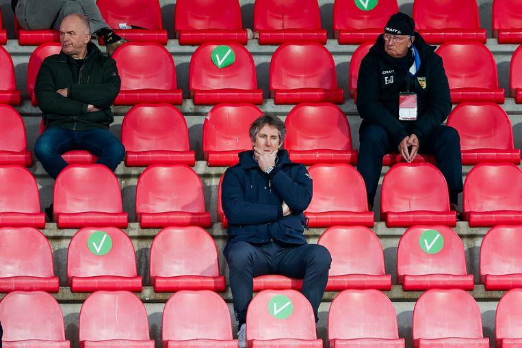 Edwin van der Sar zei deze week dat hij teleurgesteld was over het initiatief voor een Super League. Beeld Toon Dompeling/Pro Shots