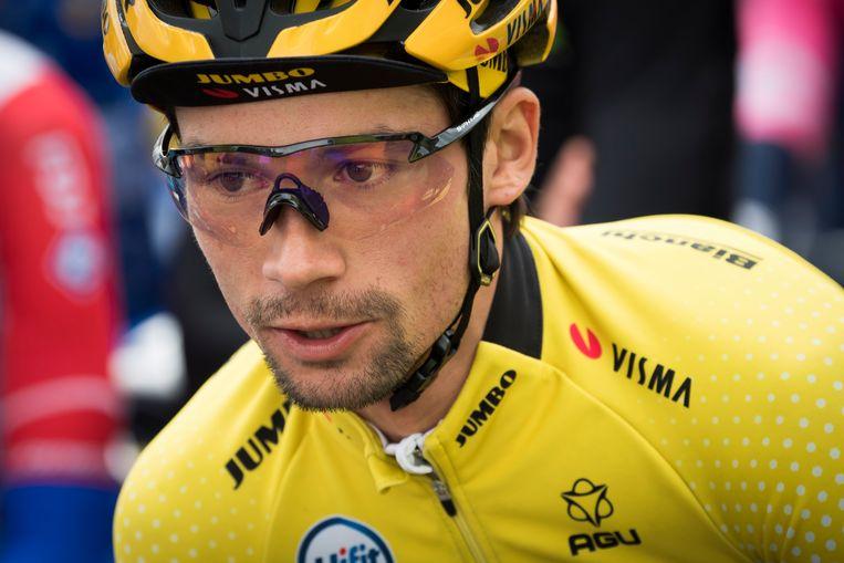 De Sloveen Primoz Roglic tijdens de Ronde van Romandië, die hij won. Beeld EPA