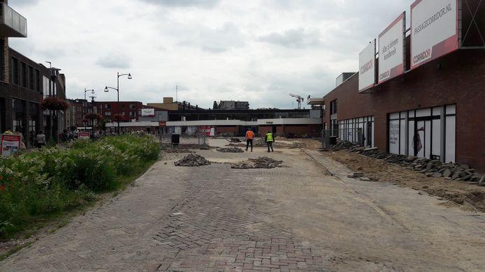 De locatie in het centrum van Veenendaal naast de Corridor waar nieuwe appartementen met een gasaansluiting moeten komen.