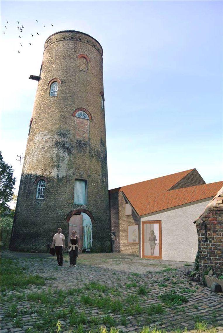 De beschermde molen krijgt er straks een dagcentrum bij.