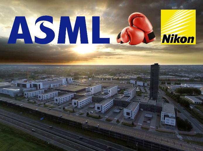 ASML heeft de eerste van elf rondes in het gevecht om de patenten met Nikon gewonnen.