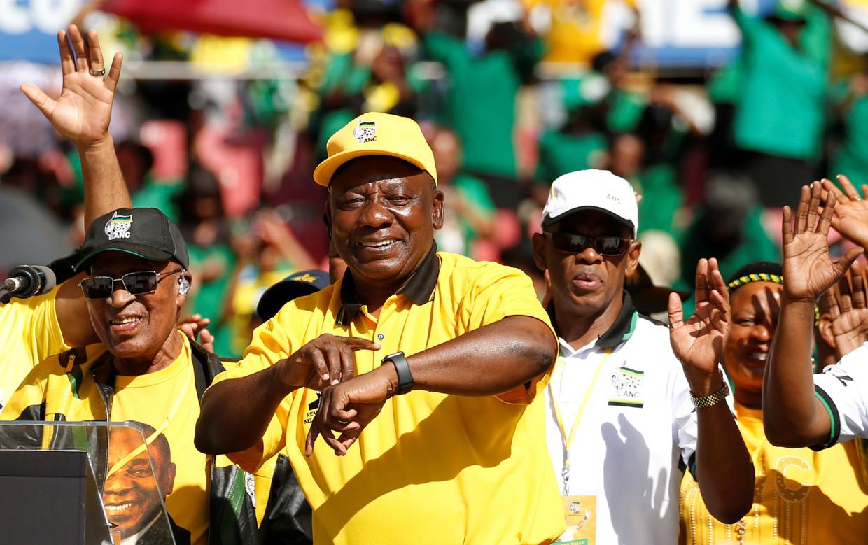 President Ramaphosa dit weekend op een partijrally.
