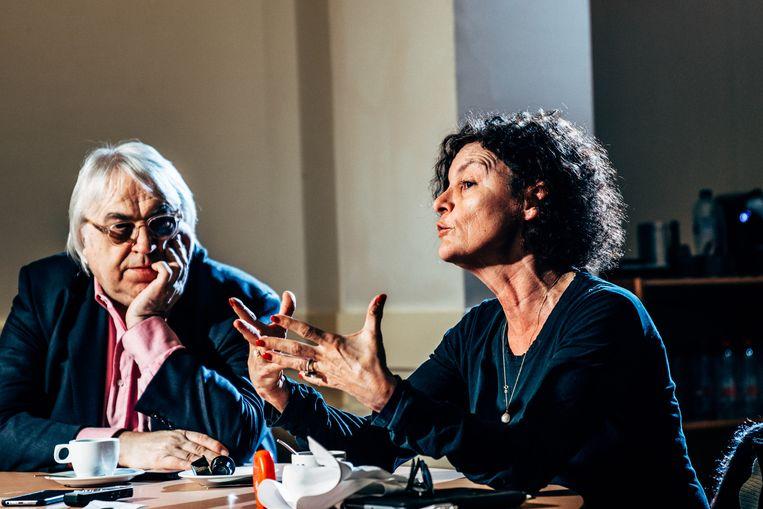 Marc Didden en Hilde Van Mieghem. Beeld Thomas Sweertvaegher