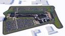 Overzicht van Fashion Outlet Zevenaar op het terrein aan de Spoorallee, met onder meer de parkeerplaats.