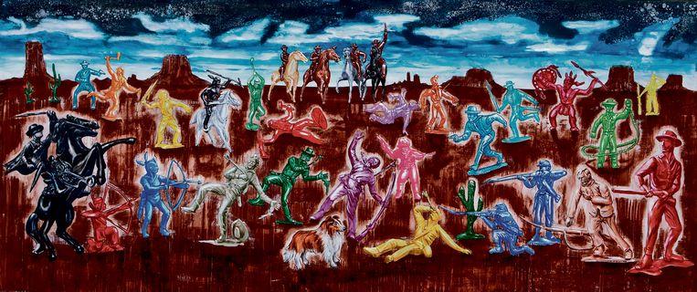 Het kunstwerk 'Dusk' van Tom Liekens, te bezichtigen op de expo in Turnhout. Beeld RV Diego Franssens