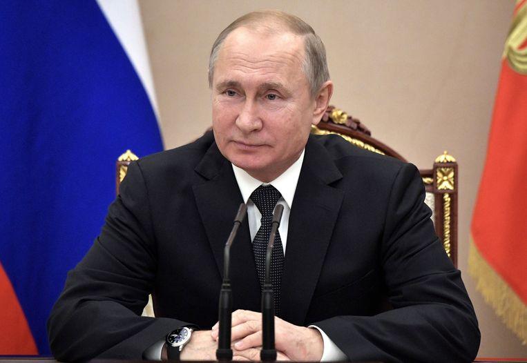 Vladimir Poetin. Concreet gaat het om raketten van het type 9M729 (NACO-code SSC-8). Beeld AP
