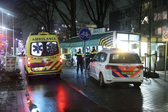 Een persoon is gewond geraakt bij het steekincident.