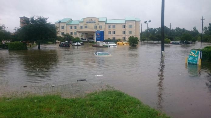 Overstromingen in Houston.