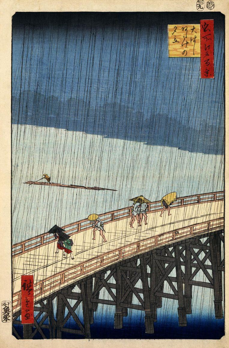 Het origineel van de Japanse kunstenaar Utagawa Hiroshige Beeld RV