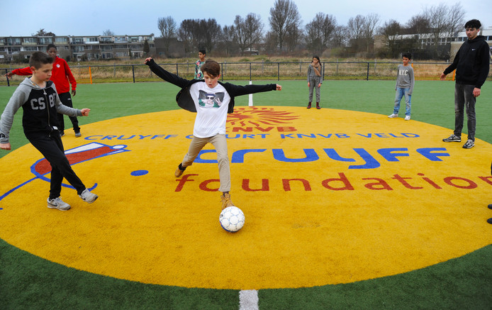 Foto ter illustratie. Het Cruyff Court in Vlissingen.