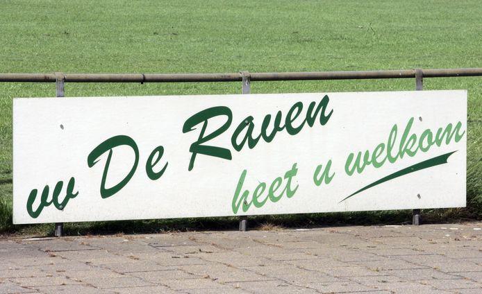 Welkomsbord voetbalclub De Raven Luyksgestel