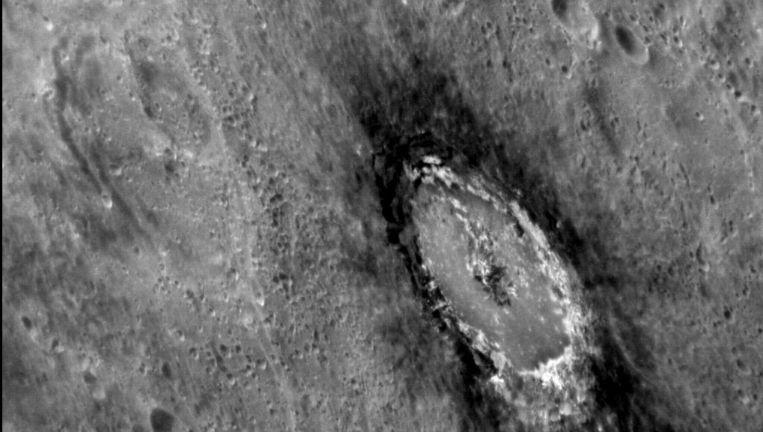 Mercurius. De donkere tint van het zonnestelsel is al jaren een raadsel. Beeld NASA/Johns Hopkins University