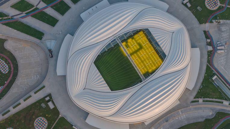 Het Al Janoub-stadion in Al Wakrah is ontworpen door de Brits-Iraakse architecte Zaha Hadid. Beeld