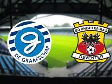 LIVE   De Graafschap begonnen aan beladen duel met Go Ahead Eagles, Snoei looft 'waanzinnige actie' fans