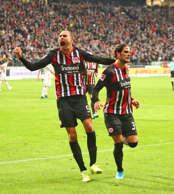 Bas Dost en Gonçalo Paciência, het succesvolle spitsenduo van Eintracht Frankfurt.