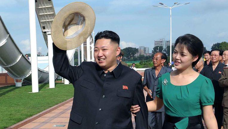Kim Jong-un en zijn vrouw Ri Sol-ju in 2012 in Pyongyang, Noord-Korea. Beeld ap