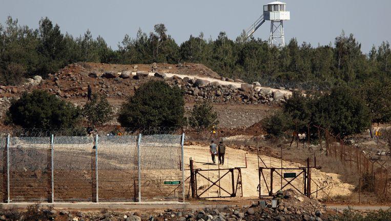 De grens tussen Syrië en Israël op de Golanhoogte Beeld EPA