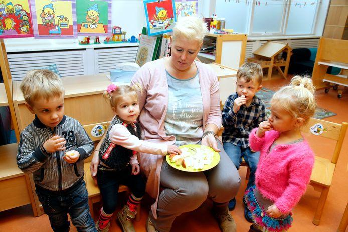 Startgroep(je) in de school van Heikant, archieffoto.