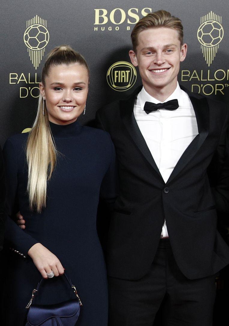 Frenkie de Jong en partner Mikky Kiemeney.