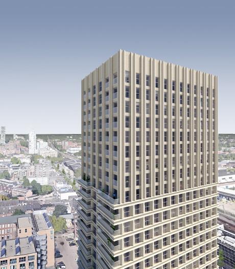 Dit wordt Tilburgs nieuwe woontoren De Bankier: op stand, ver weg kijken over de stad