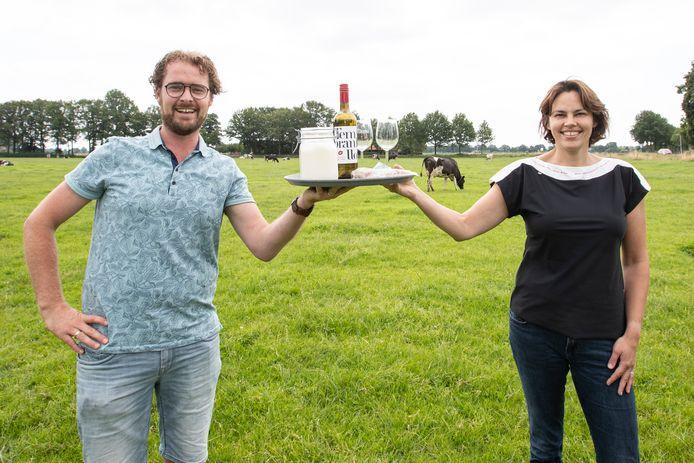 Leon Ripperda en Karin van der Toorn willen met hun Tour de Sallandse Boer de boerderij en horeca samenbrengen.
